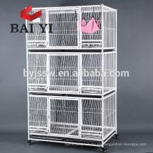 Jaula para gatos barata plegable de metal con mayor venta