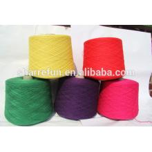 Fil de laine 10nm-32nm, 100% laine de cachemire pour l'écharpe de tricotage de machine