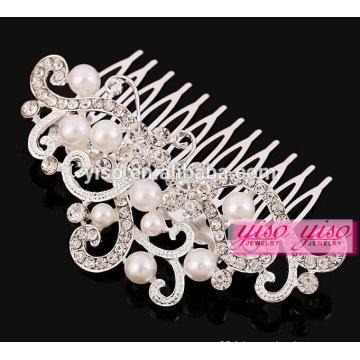 Fashion pearl bridal wedding headpiece haute qualité à la main tiare