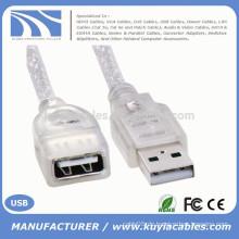 Weiß Standard USB 2.0 Stecker auf Buchse M / F Erweiterung Extender 0,2m Kabel