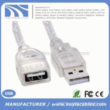 Blanco Estándar USB 2.0 macho a hembra M / F Extender extensión Cable 0,2 m