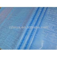 Супер Дамасской Shadda Базен Riche Нигерия Дизайн Небесно-Голубой Цвет Мягкий Парфюм Хлопок Гвинея Brocade Западной Африки Одежды Ткани