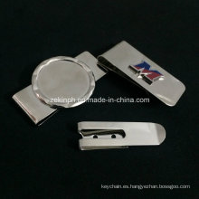 Clip de dinero de acero inoxidable de alta calidad con logotipo personalizado para uso promocional o recuerdo