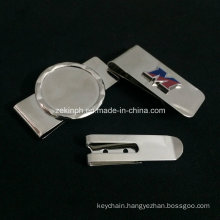 High Quality Stainless Steel Money Clip with Custom Logo for Promotional Use or Souvenir