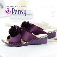Damen Hausschuhe Indoor Hausschuhe Stiefmütterchen Schuhe High Ende Frühjahr / Autum rot / schwarz / lila Blume Hochzeit Indoor japanischen Stil