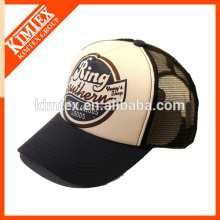 Printed half mesh cap made of mesh and sponge