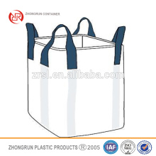 2015 new design Hot Selling high quality low cost fibc ventilated big bags 1000kg china 1 ton bulk bags by ZHONGRUN CONTAINERS