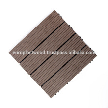 Interlocking DIY WPC decking tiles for outdoor from Vietnam
