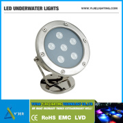 YJS-0001 IP68 6W 12W Stainless Steel Fountain Colored Projector Lamp & LED Flood Light