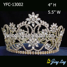 Full Round  Gold Pageant Crowns