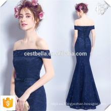 Azul marino jersey manga corta vestido de sirena delgado glamoroso formal vestidos de noche largo vestidos de fiesta por la noche