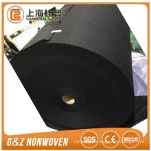 Jumbo de charbon de bois noir rouleaux en tissu non-tissé de couleur noire énorme rouleau