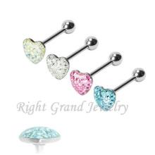 Multi камней эпоксидной розовый пользовательские сделал язык кольца в форме сердца