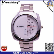 Yxl-367 Watch Mens 2016 Business Chronograph Quartz Bid Dial Hot Sale Stainless Steel Men′s Watch