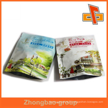 Top quality printed plastic bags customized three side seal bag