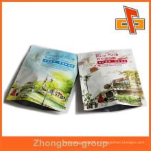 Sacos plásticos impressos de qualidade superior personalizados saco de selo de três lados