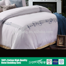 Europe market new style 100% cotton luxury hotel bed sheet T300 60s bed linen