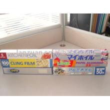 rolo de papel alumínio de uso doméstico