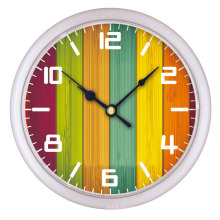 Colorful design Cheap small round wall clock for home decoration