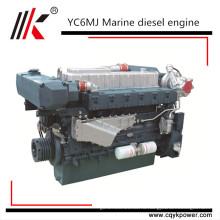 Юйчай 200л 6-цилиндровый дизельный двигатель морского движения морской дизельный двигатель с коробкой передач YC6A200C