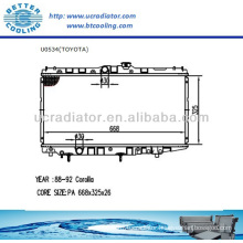 Auto Radiator For TOYOTA COROLLA 88-92 1.6L L4 MT OEM:1641001030 892370510 1640015380 1640015431