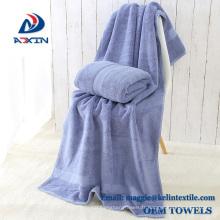 Personnalisé 100% coton 70x140cm 400gsm luxe Dobby Design serviette de bain