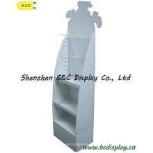 1PC / CTN Karton Display, Wellpappe Display, Papier Display Stand, Karton Boden Display, Haken POS Display, Pegboard Display (B & C-B030)