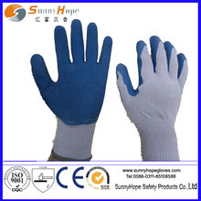 Natural rubber Latex Palm Coated Latex Safety glove