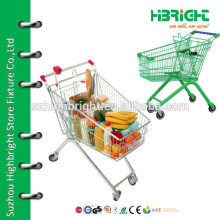 High quality colorful supermarket metallic shopping cart