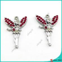 Encantos pendientes del ángel al por mayor para la joyería de DIY (MPE)