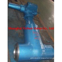 Válvula de globo elétrica de aço inoxidável de alta pressão