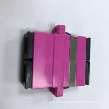 Sc Duplex Fiber Optic Adapter with Magenta Housing