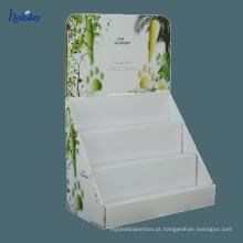 4 suportes de exposição cosméticos da impressão a cores, suportes de exposição do champô, suportes de exposição do produto do cabelo da promoção