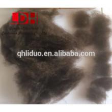 Fibra de lana de yak puro de color natural