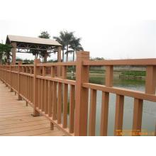 Alta calidad al aire libre de madera de grano WPC cerca