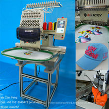 single head computerized embroidery machine for cap t-shirt embroidery EG1501CS