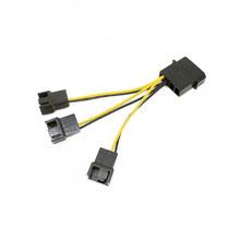 Custom Length 4pin Molex to 3X Eleectrical Fan Cable