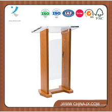 Wood & Acrylic Podium Optional Cross Plain Front Panel