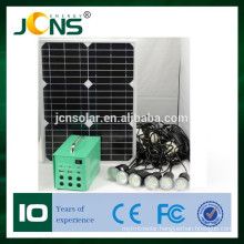 new style portable small emerngency 20W solar power home lighting rechargeable battery OEM solar panel system