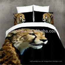 The Running Leopard 3D Duvet Cover Kissenbezug Quilt Cover Bettwäsche Set Single Queen King