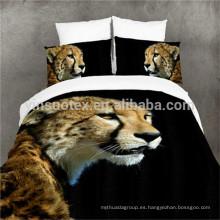 The Running Leopard Funda de edredón 3D Funda de almohada Funda de edredón Set de cama Rey de una sola reina