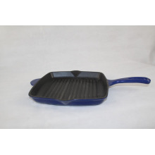 Square Cast Iron Enamel Skillet