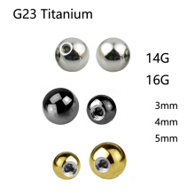 Acessório elevado da bola da substituição do titânio G23 de Polished Piercing