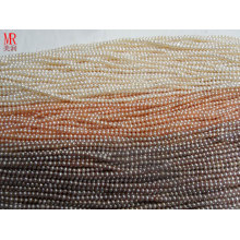 3-4mm AA Grade Round Freshwater Pearl Strands