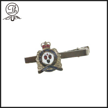 Royal Crown tie bar clip silver