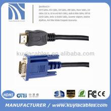 2M HDMI zu VGA M Konverter Kabel GOLD PLATED