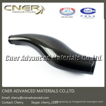 As peças dadas forma 3D da fibra do carbono, 3K lustrosas / matte a tubulação da entrada de ar da fibra do carbono para o automóvel