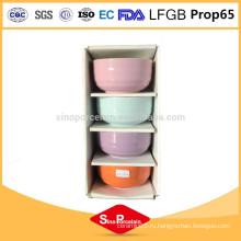 5-дюймовая керамическая круглая чаша с горизонтальными полосками для BS10224