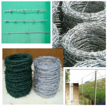 Hot dipped galvanized barbed wire for fencing