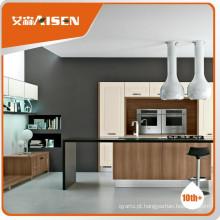 Serviço de satisfação estilo americano pvc design de armário de cozinha
